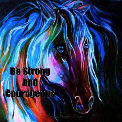 Blue horse flowing mane by Pam Herrick - Just For You Prophetic Art
