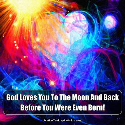 Prophetic art heart and moon by Pam Herrick - Just For You Prophetic Art