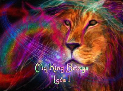 Lion of Judah with rainbow by Pam Herrick, Just For You Prophetic Art