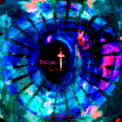 Cross in eye by Just For You Prophetic Art. #PamHerrick
